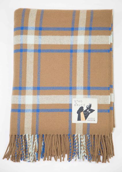 Affric - a checked wool throw designed and produced in Scotland