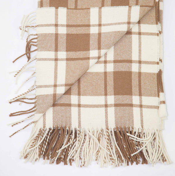 Lightweight wool throw designed in Scotland