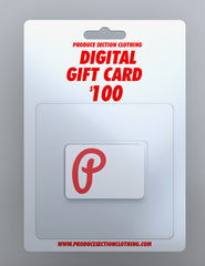 Produce Section Clothing $100 Digital Gift Card