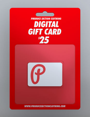 Produce Section Clothing $25 Digital Gift Card