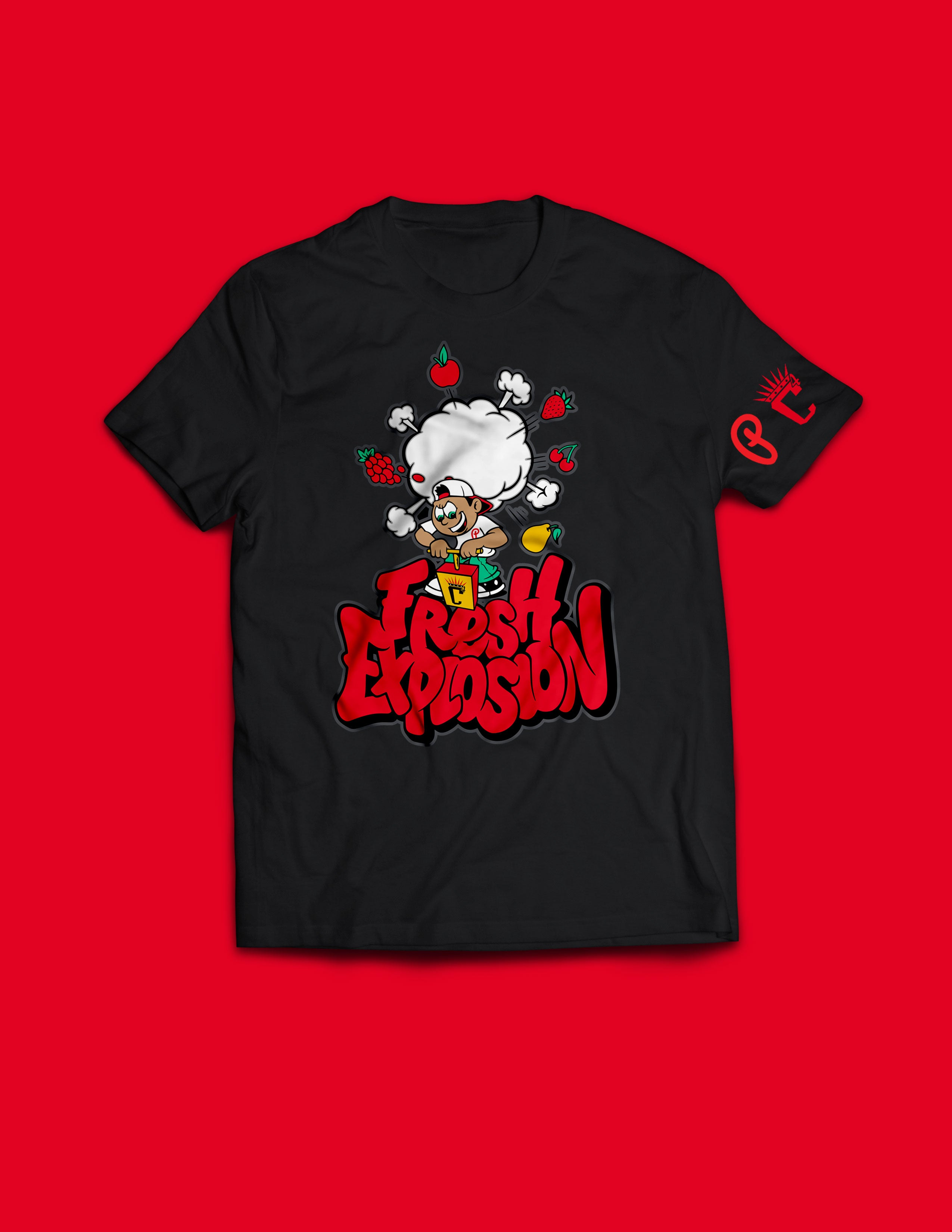 "Kids - Produce Section Clothing x C4 ""Fresh Explosion"" Tee - Black (PRE-ORDER)"