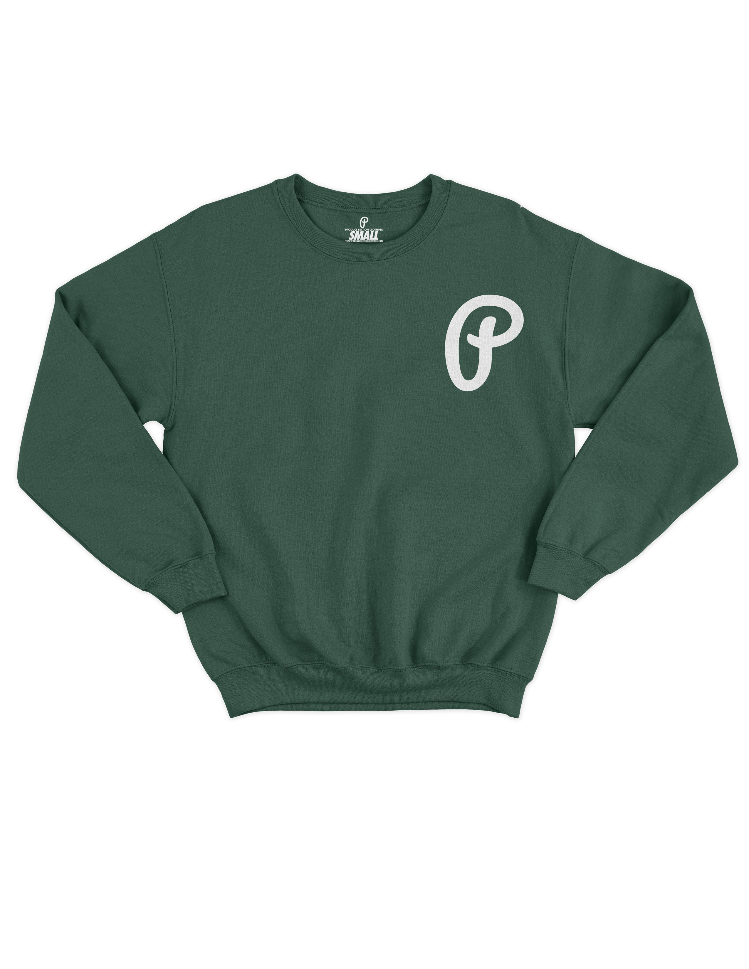 "Men's ""P"" Logo Crewneck - Dark Green"