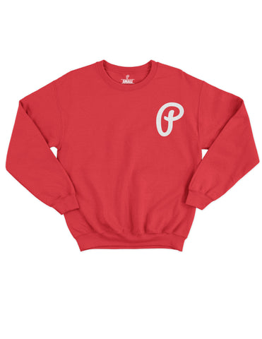 "Men's ""P"" Logo Crewneck - Red"