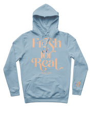 "Produce Section Clothing Women's ""Fresh For Real"" Hoodie - Misty Blue/Colada"