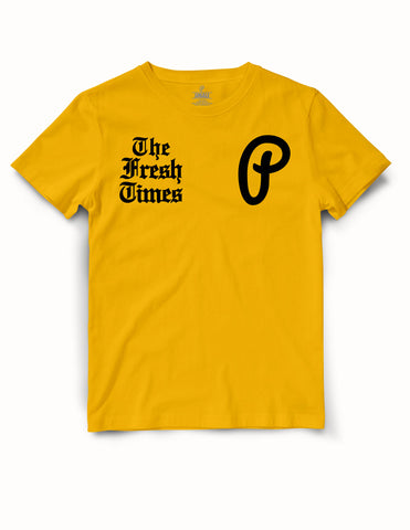 "Men's ""The Fresh Times"" Premium Tee - Gold/Black"