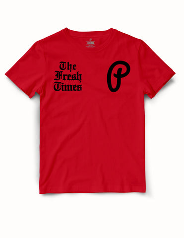 "Men's ""The Fresh Times"" Premium Tee - Red/Black"