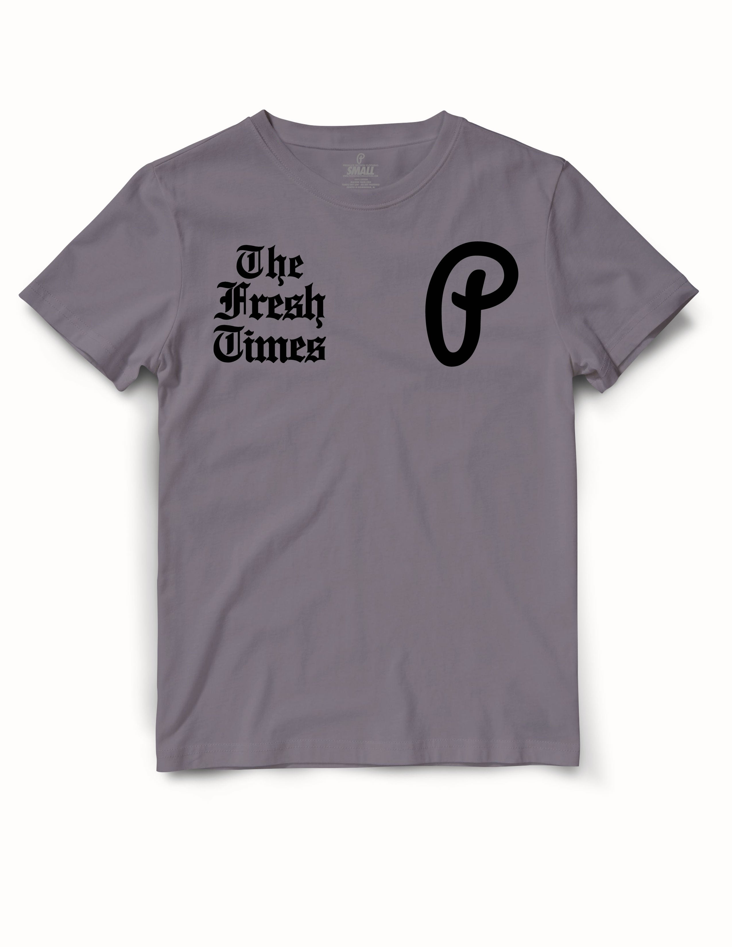 "Men's ""The Fresh Times"" Premium Tee - Smoke/Black"