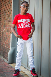 "Kids ""Fresher Than Most"" - Red"
