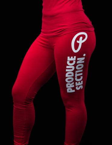 Women's Bold Produce Section Leggings - Red