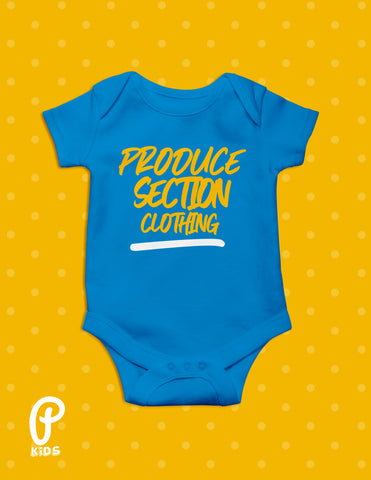 "Kids - ""Little Produce"" Onesie - Cobalt Blue"