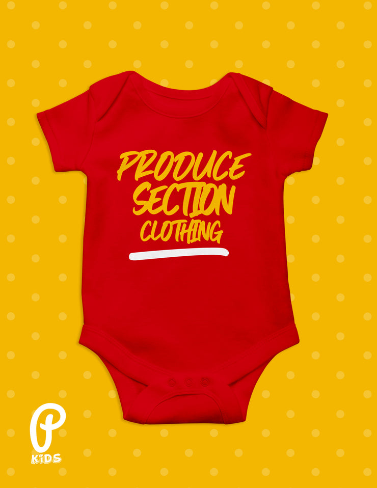 "Kids - ""Little Produce"" Onesie - Red"