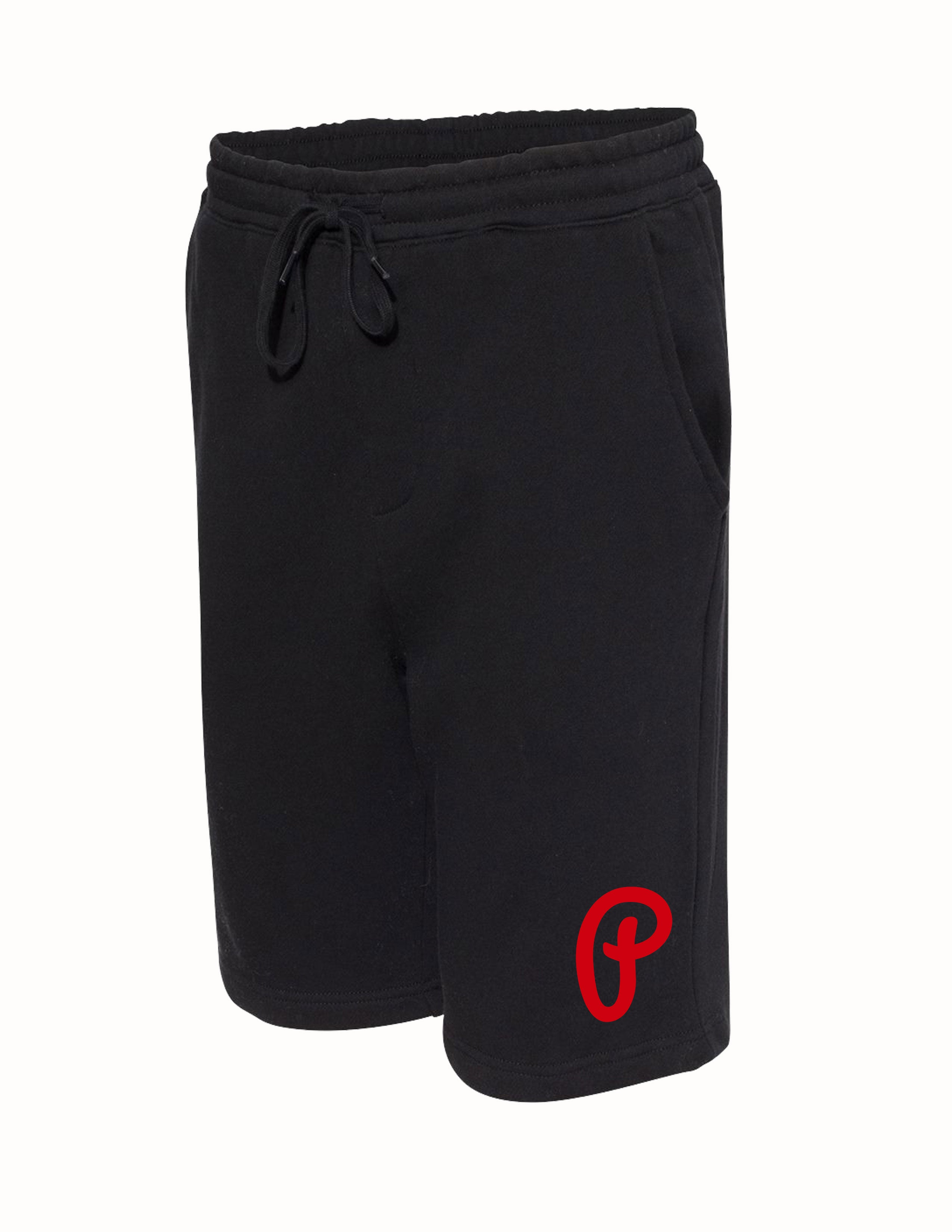 "Men's ""P"" Logo Fleece Shorts - Black"