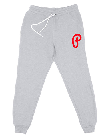 Men's P Logo Joggers - Heather Gray