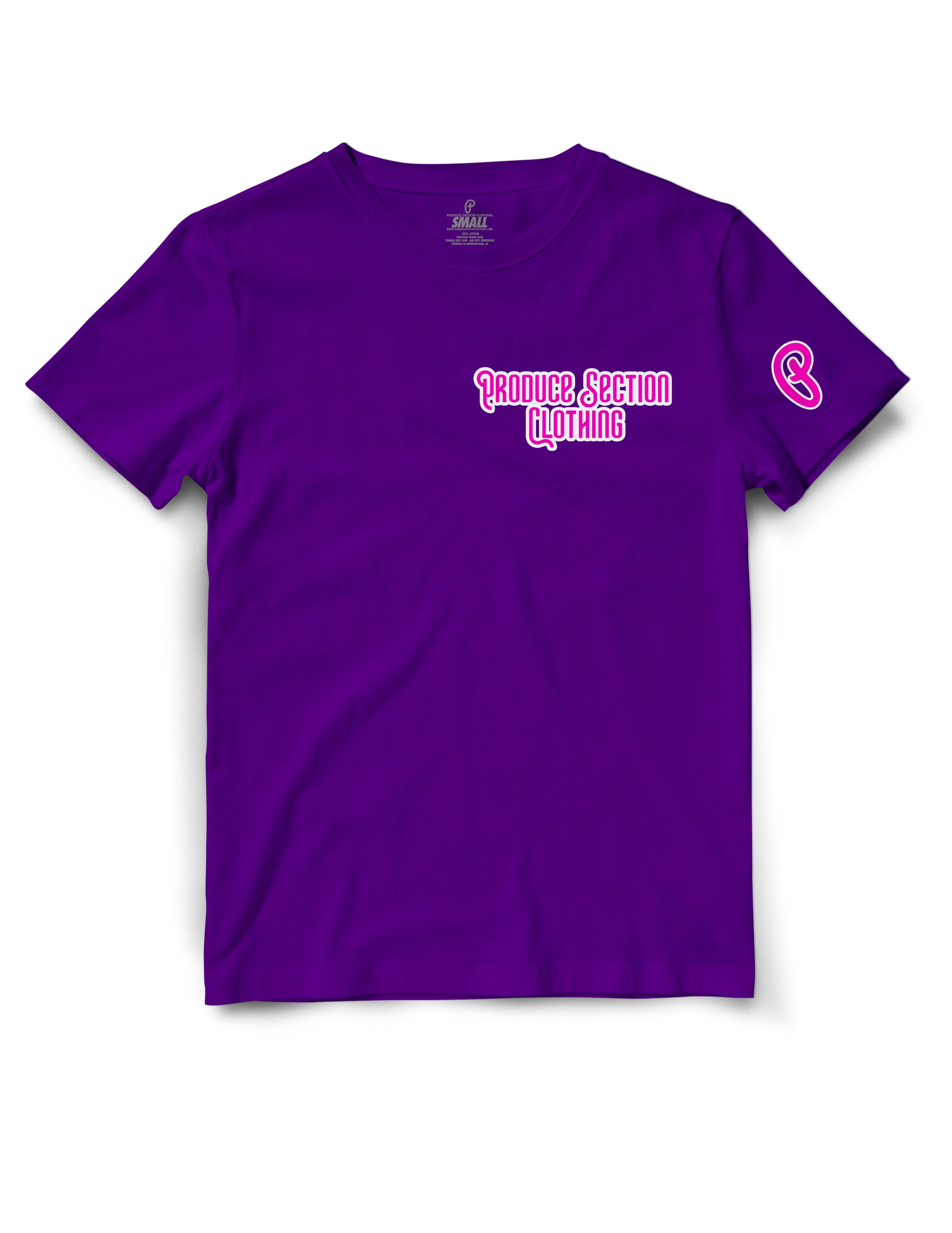"Women's Highlighter Pink ""Everyday"" Tee - Purple"