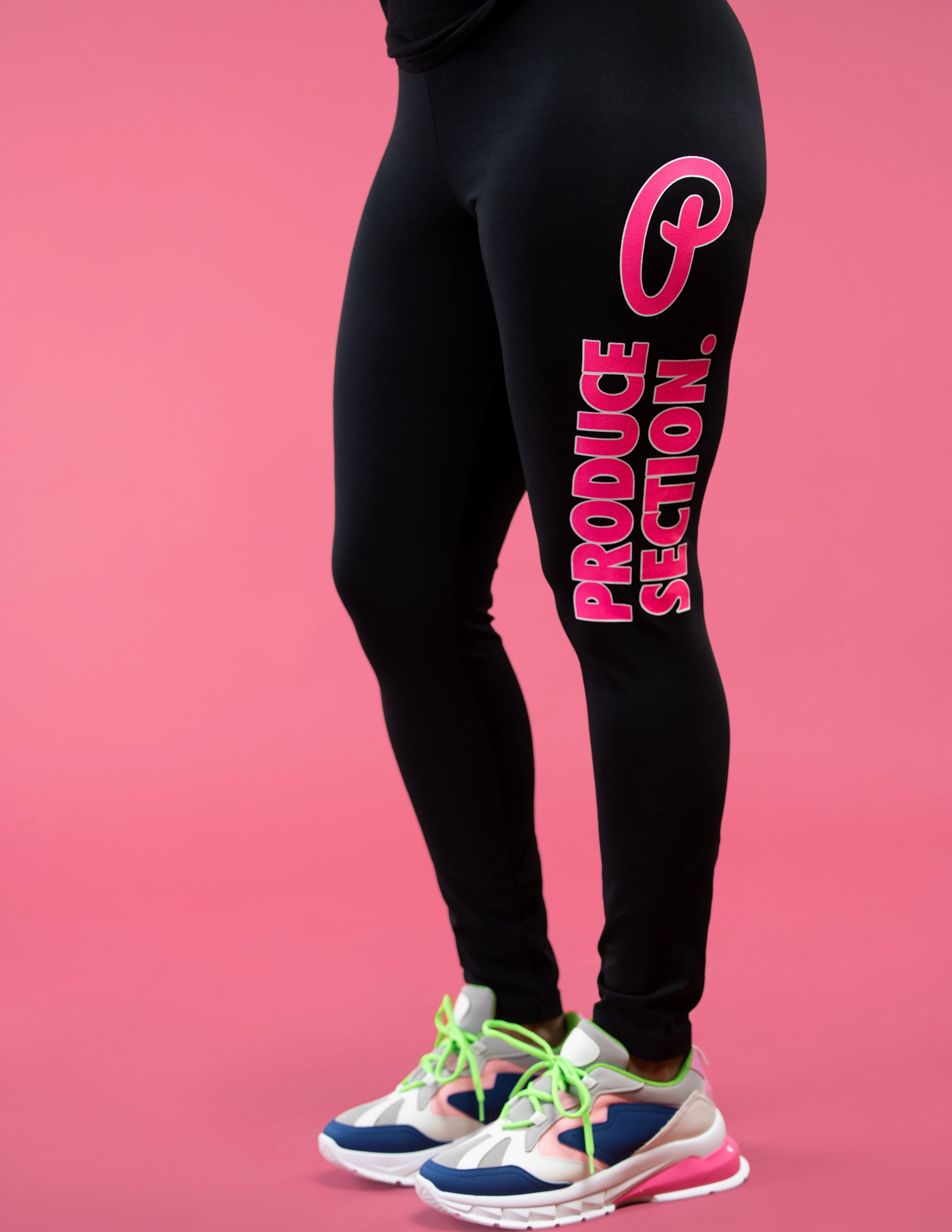 Women's Bold Highlighter Pink Leggings
