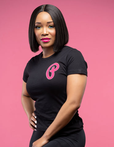 "Women's Highlighter Pink ""P Logo"" Tee"