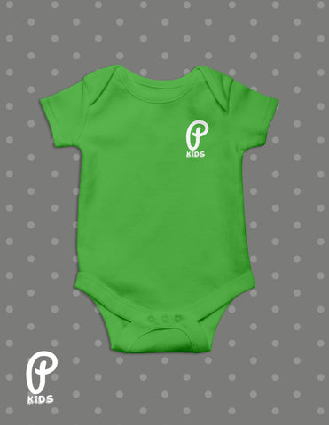"Kids - ""P Kids"" Logo Onesie - Apple"