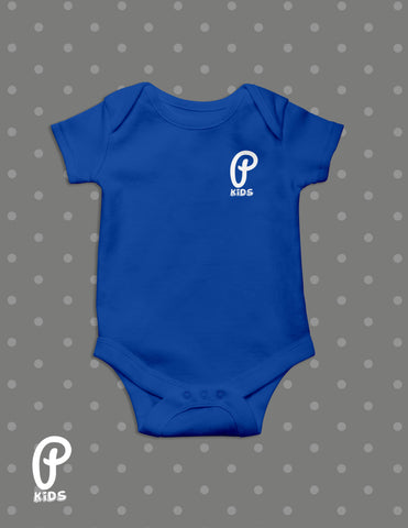 "Kids - ""P Kids"" Logo Onesie - Royal"