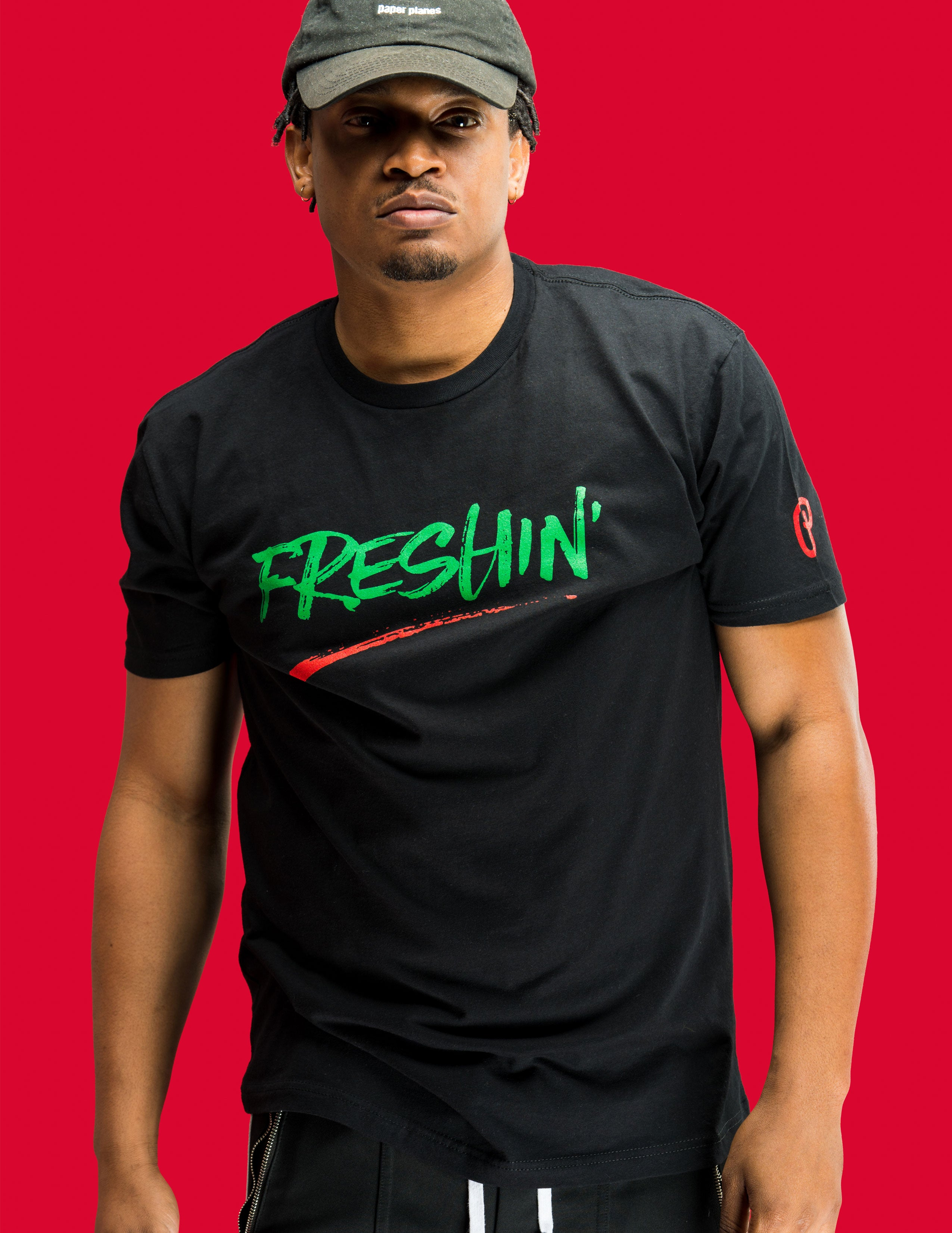 "Men's ""Freshin'"" Tee - Black"