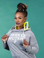 Women's High-Low Hoodie - Heather