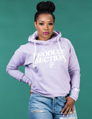 Women's High-Low Hoodie - Lilac