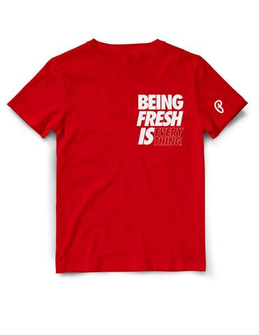 "Men's ""Being Fresh is Everything"" Tee - Red"