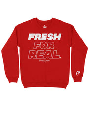 "Produce Section Clothing - Men's  ""Fresh For Real"" Crewneck - Red"