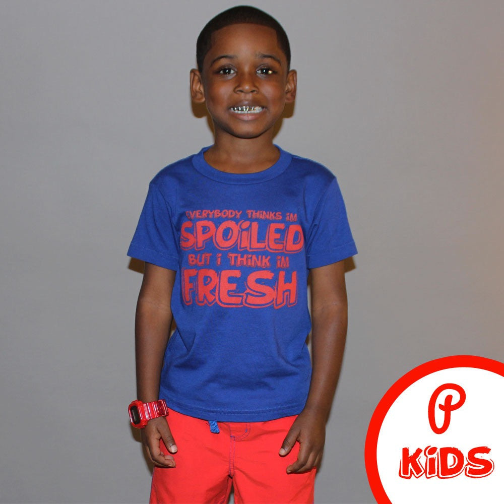 "Kids ""Spoiled"" Tee - Blue"