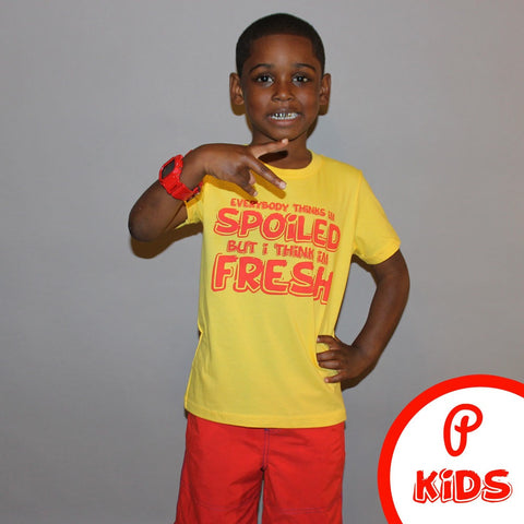 "Kids ""Spoiled"" Tee - Yellow"