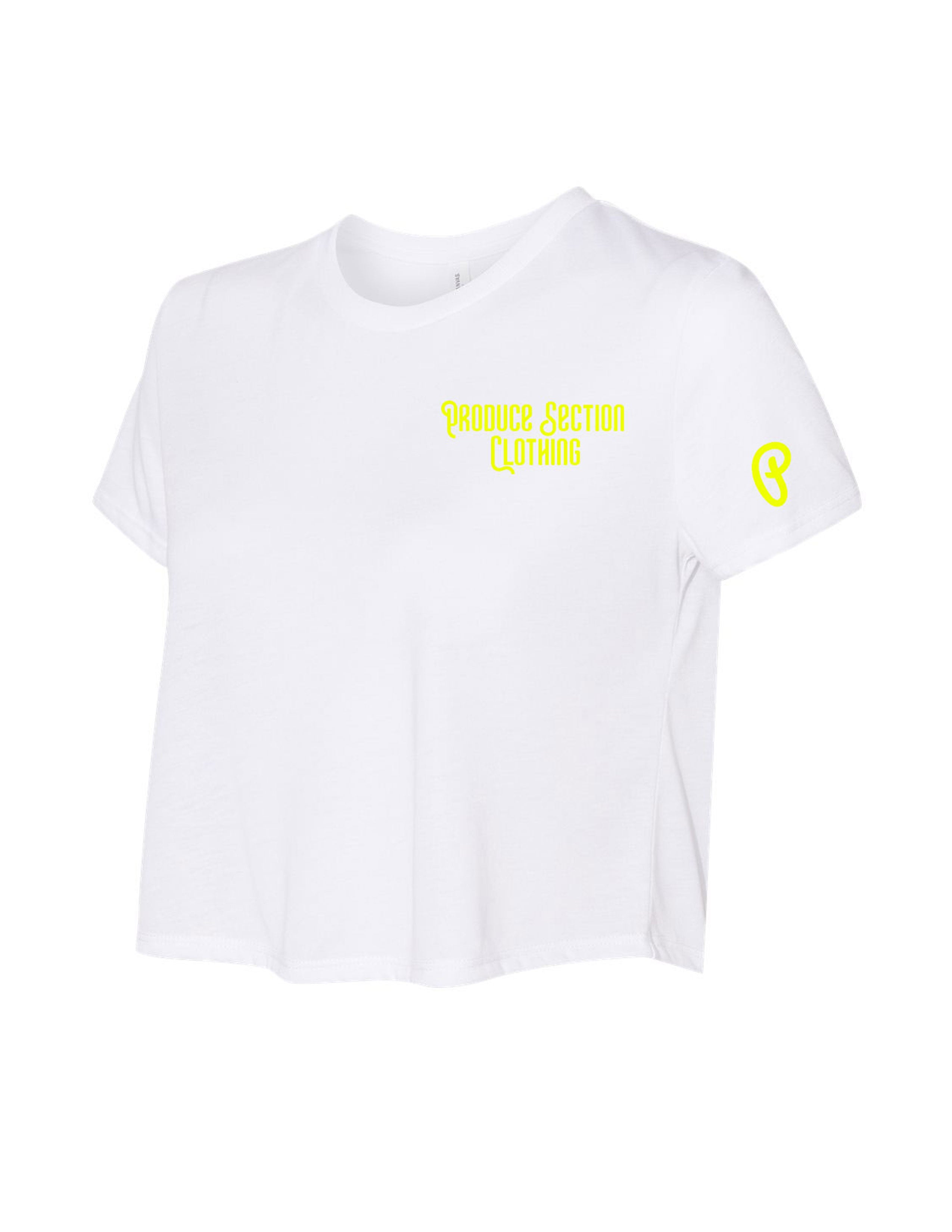 "Women's Highlighter Volt ""Everyday"" Flowy Cropped Tee"
