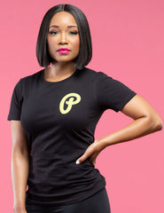 "Women's Highlighter Volt ""P Logo"" Tee"