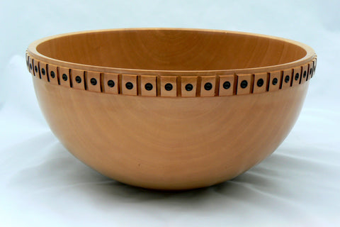 Raised Squares Bradford Pear Bowl