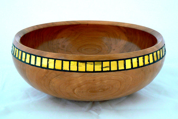 Cherry Bowl with Art Glass