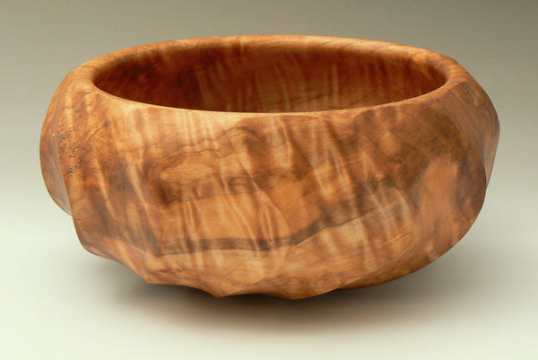 Handcarved Big Leaf Maple Burl Bowl
