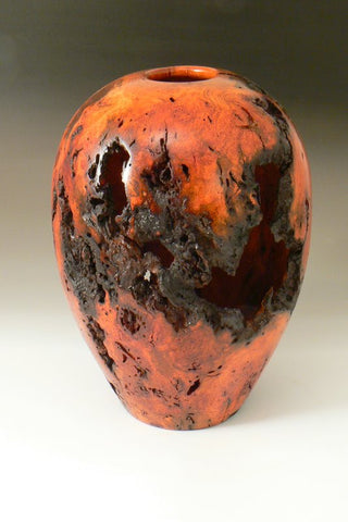 Cherry Burl Hollow Vessel (Not Available)