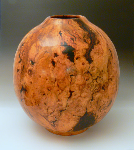 Cherry Burl Hollow Vessel