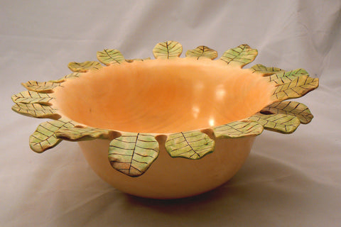 Carved Holly Bowl
