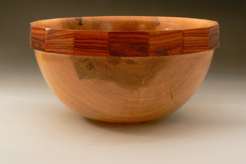 Faceted Maple and Kingwood Bowl