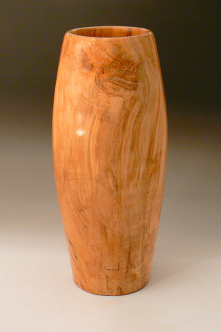 Tall Fiddleback Maple Vase