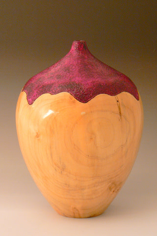 Dyed Maple Hollow Vessel