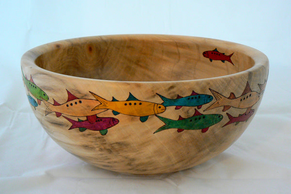 "Poplar Bowl ""Fish Frenzy IV"" (Not Available)"