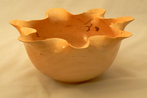 River Birch Ruffled Rim Bowl