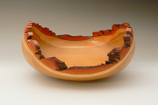 Natural Edge Sassafras Closed Bowl