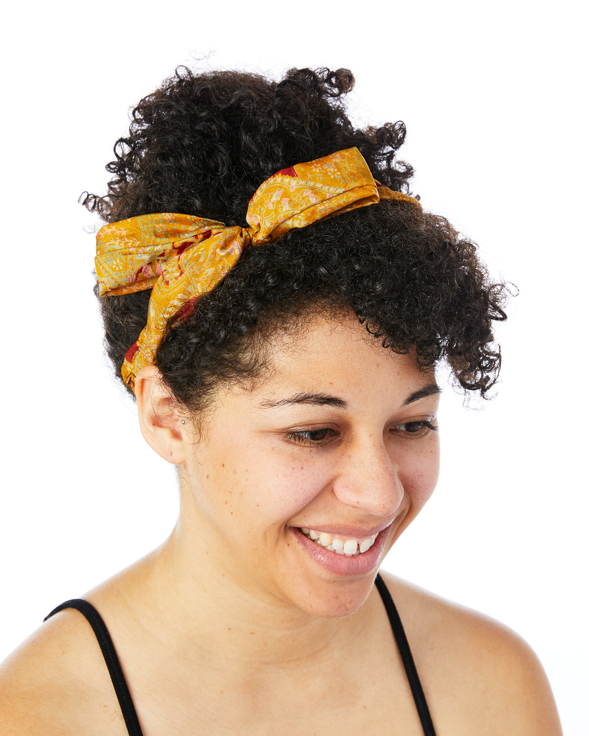 Yellow Braided Tie Headband