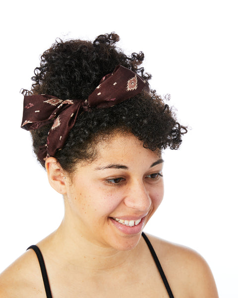 Brown Braided Tie Headband