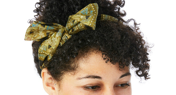Simple Green Tie Headband