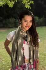 Gray Long Scarf