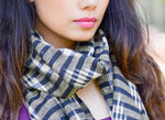 Gold & Black Ikat Scarf