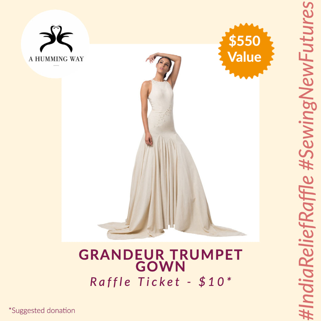 GRANDEUR TRUMPET GOWN by A Humming Way (India Relief Raffle)