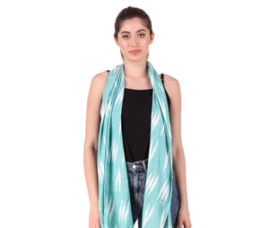 Sea Green Ikat Scarf